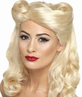 1940's Blonde Pin Up Wig | Smiffy's