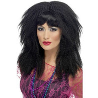 1980's Trademark Black Crimp Wig | Smiffy's