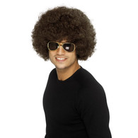 1970's Funky Afro Brown Wig | Smiffy's
