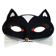 Dr Tom's Papillon Panther Black Eye Mask