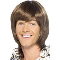 70's Heartthrob Brown Wig | Smiffy's