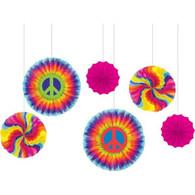 Hippy Paper Fan Decorations