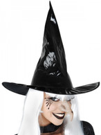 Dr Tom's Black PVC Witches Hat