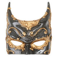 Dr Tom's Gold & Black Gothic Batman Mask