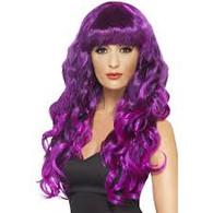 Siren Long Purple Wig | Smiffy's