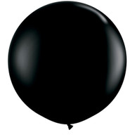 Latex Round 90cm Fashion Black Balloon | Qualatex