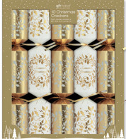 Christmas Cream & Gold  Crackers   Giftmaker Collection