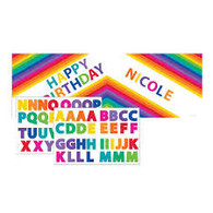 Rainbow Giant Party Banner with Stickers