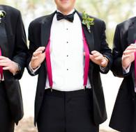Hot Pink Suspenders