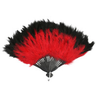 Dr Tom's Red & Black Fan with Silver Staves