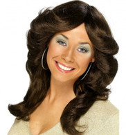 Flick 70's Brown Wig | Smiffy's