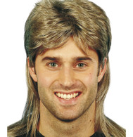 80's Mullet Blonde Brown Wig | Smiffy's