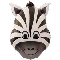 Foil Supershape Zebra Face Balloon | Qualatex