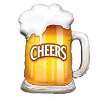 Foil Supershape Beer Cheers Glass Balloon   Qualatex