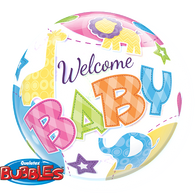 Bubble Welcome Baby Animals Balloon | Qualatex