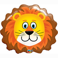 Foil Supershape Lovable Lion Balloon   Qualatex