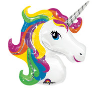 Foil Supershape Rainbow Unicorn Balloon | Anagram