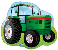 Foil Supershape Green Tractor John Deere Balloon | Qualatex