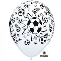 Latex Printed Soccer Balls Balloons | Qualatex