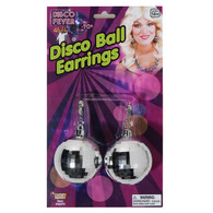 Giant Silver Disco Ball Clip-on Earrings | Forum Novelties