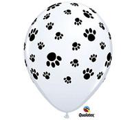 Latex Printed Paw Prints Balloons | Qualatex