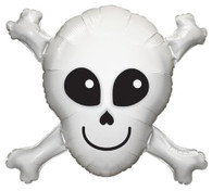 Foil Supershape Happy Skull & Cross Bones Balloon | Qualatex