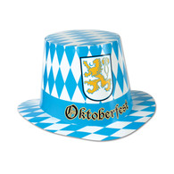 Oktoberfest Checkered Cardboard Hat