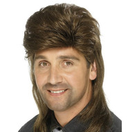 1980's Mullet Brown Wig  | Smiffy's