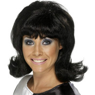 Mod Flick Up 60's Black Wig | Smiffy's