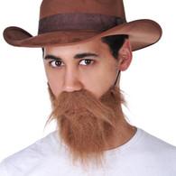 Dr Tom's Brown Beard & Moustache Set