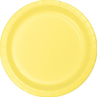 Premium Luncheon Paper Plates Mimosa Lemon | Touch of Color