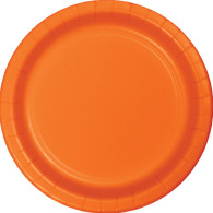 Premium Luncheon Paper Plates Sunkissed Orange | Touch of Color