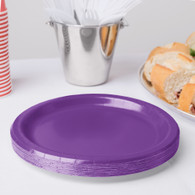 Premium Snack Paper Plates Amethyst | Touch of Color