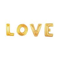 "Jumbo Foil Letter ""LOVE"" Gold Balloon Package | Qualatex"