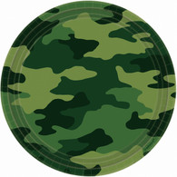 Camouflage Army Luncheon Party Plates | Amscan