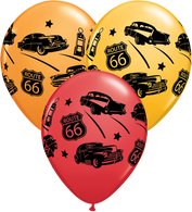 Latex Printed American Route 66 Balloons | Qualatex