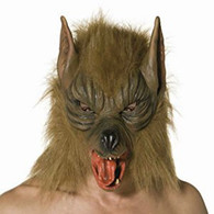 Full Face Wolf Mask with Fur | Smiffy's