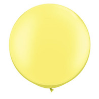 Latex Round 75cm Pearl Lemon Chiffon Balloon | Qualatex