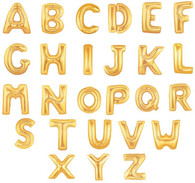 "Air Filled Gold 14"" Alphabet Foil Letter Balloon 