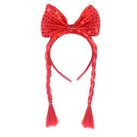 Plaited Red Sequin Bow Headband | Trademart