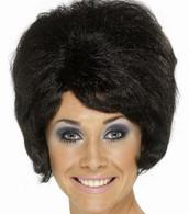 60's Beehive Black Wig | Smiffy's