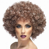 Afro Natural Brown Wig | Smiffy's