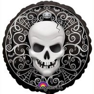 Foil Round Fright Night Skull Balloon | Anagram