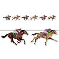 Horse Racing Cutout Banner | Beistle Creation