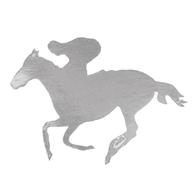 Melbourne Cup Silver Horse & Rider Cutout | Contents