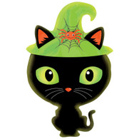 Foil Jr Shape Halloween Black Cat Witch Balloon | Anagram