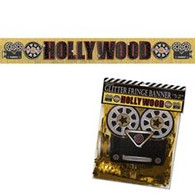 Hollywood Giant Glitter Fringe Banner | Amscan