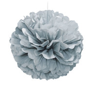 Sophisticates Silver Decorative Puff | Shmick
