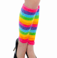 1980s Style Neon Striped Multi-Coloured Leg Warmers | Dr Tom's