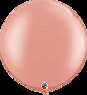 Latex Round 90cm Pearl Rose Gold Balloon | Qualatex